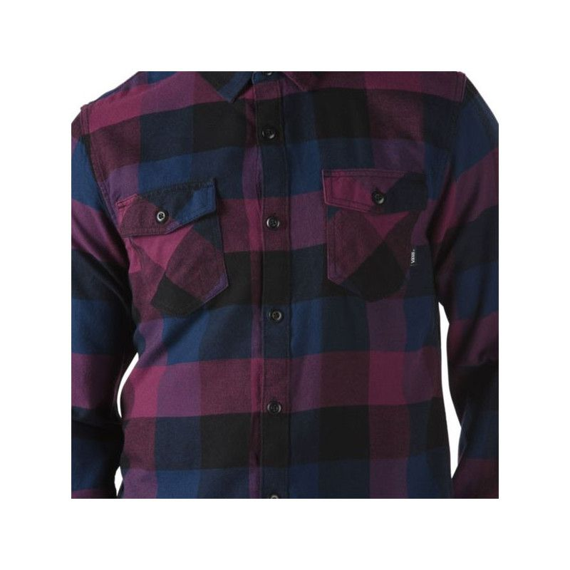 Camisa Vans: BOX FLANNEL (PRUNE DRESS BLUES)