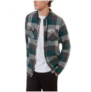 Camisa Vans: BOX FLANNEL (VANS TREKKING GRN GRY HTHR)