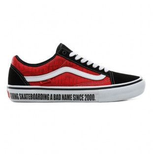 Zapatillas Vans: Old Skool Pro (BAKER BLACK WHITE RED)