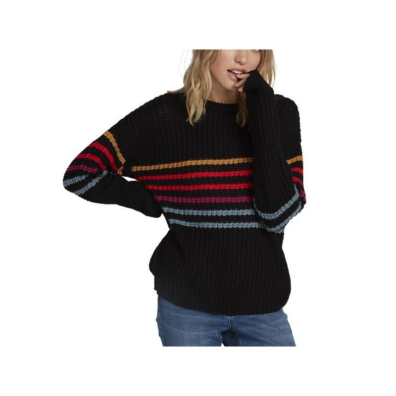 Jersey Volcom: MOVE ON UP SWEATER (Black Combo)
