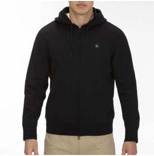Sudadera Hurley: THERMA PROTECT FULL ZIP (BLACK HEATHER)