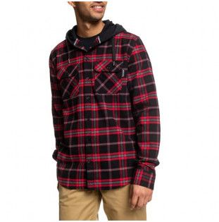 Camisa DC Shoes: RUNNELS LS (BLACK RED) DC Shoes - 1