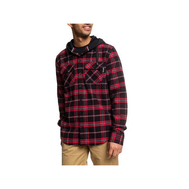 Camisa DC Shoes: RUNNELS LS (BLACK RED)