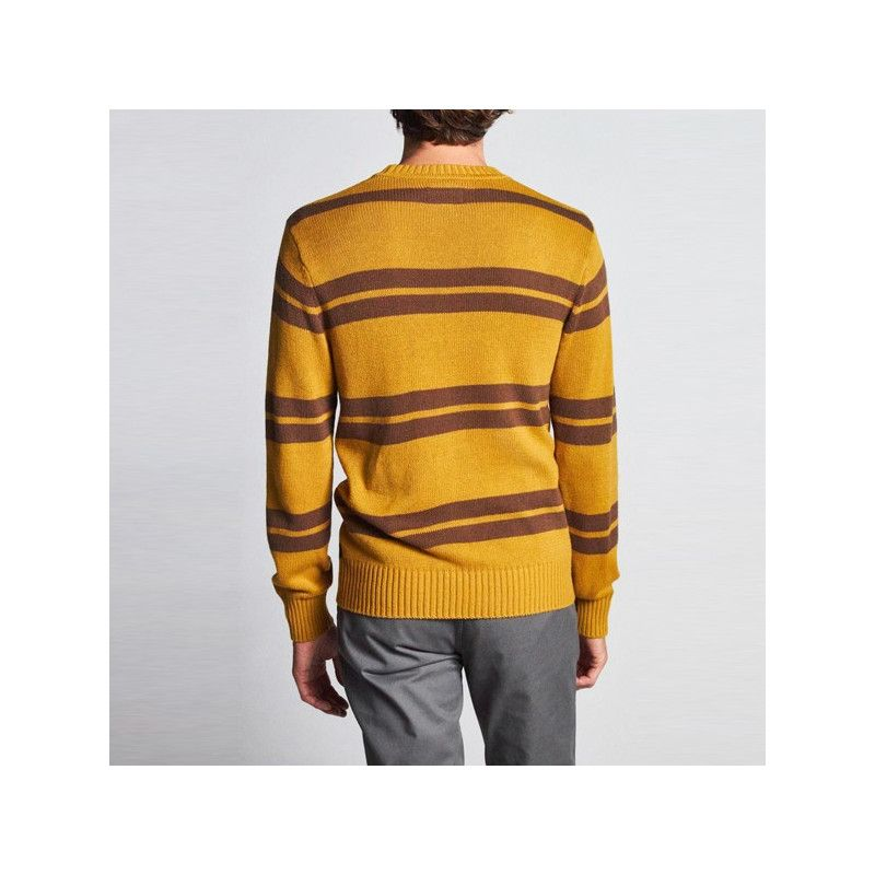 Jersey Brixton: WES SWEATER (MAIZE BISON)