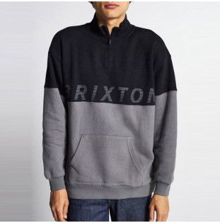 Sudadera Brixton: DIMENSION 12 ZIP (BLACK) Brixton - 1