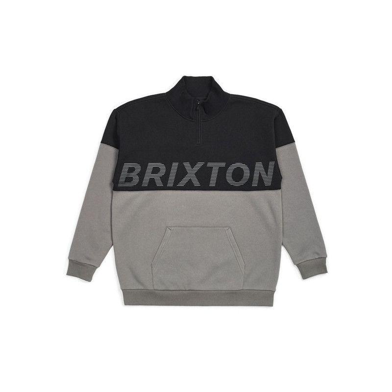 Sudadera Brixton: DIMENSION 12 ZIP (BLACK)
