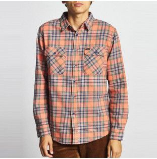 Camisa Brixton: BOWERY LS FLANNEL (SALMON NAVY) Brixton - 1