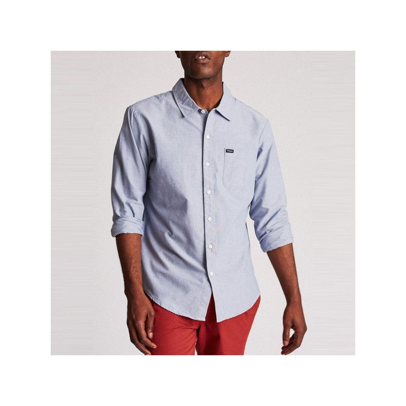 Camisa Brixton: CHARTER OXFORD LS (LIGHT BLUE CHAMBRAY)