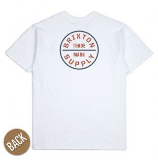 Camiseta Brixton: OATH SS STND TEE (WHITE RED BLACK)