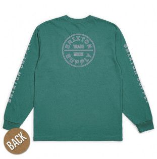 Camiseta Brixton: OATH IV LS STT (EMERALD)