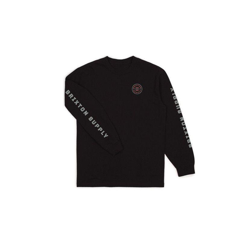 Camiseta Brixton: OATH IV LS STT (BLACK BLUE)