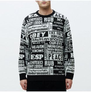 Jersey Obey: POST SWEATER (BLACK MULTI) Obey - 1