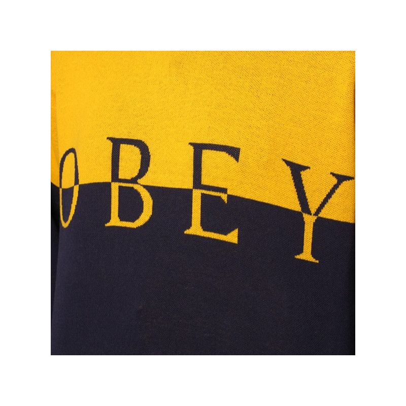 Jersey Obey: LEFT BANK CREW (GOLD NAVY)