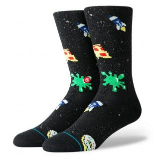 Calcetines Stance: SPACE FOOD (BLACK)