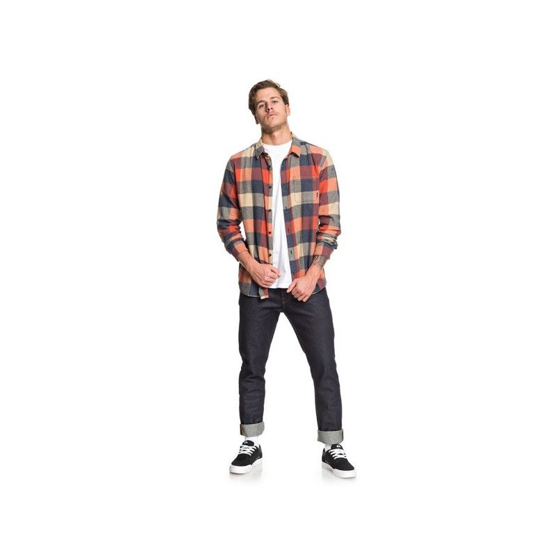 Camisa Quiksilver: MOTHERFLY FLANNEL (BURNT BRICK MOTHERFLY)
