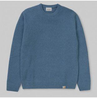 Jersey Carhartt: Allen Sweater (Prussian Blue)