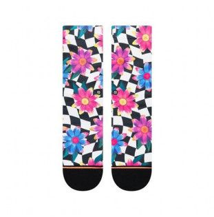 Calcetines Stance: CRAZY DAISY CREW (BLACK)