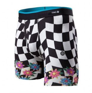 Boxer Stance: CHECK DAZE BB (BLACK) Stance - 1