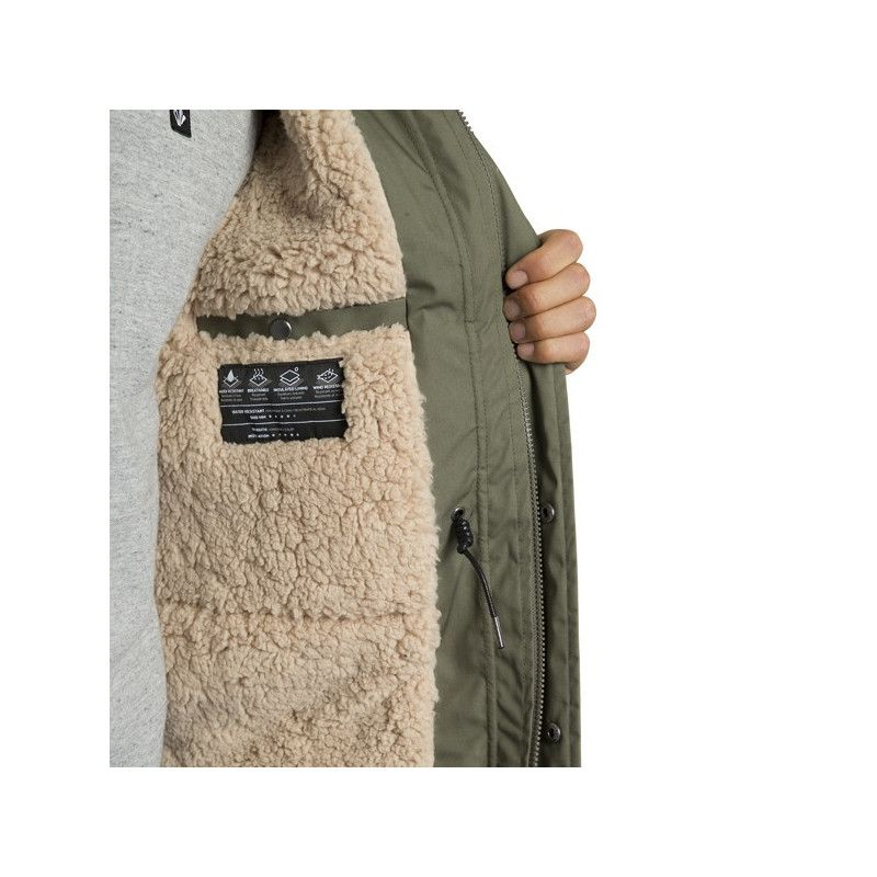 Chaqueta Volcom: LIDWARD 5K JACKET (ARMY GREEN COMBO)