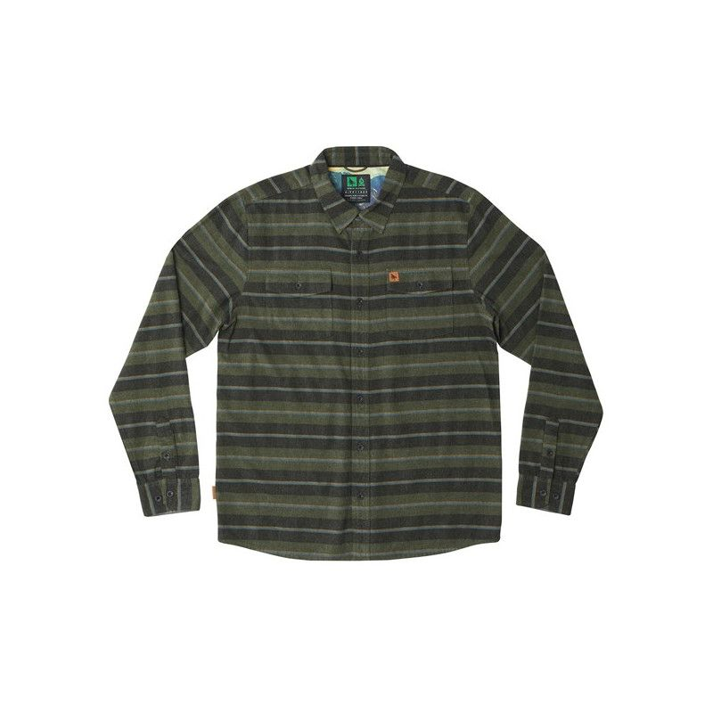 Camisa Hippytree: Morrison Flannel (Forest)