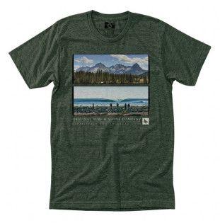 Camiseta Hippytree: Frameview Tee (Heather Forest)