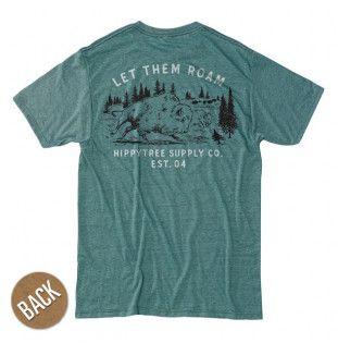 Camiseta Hippytree: Bison Tee (Heather Teal)