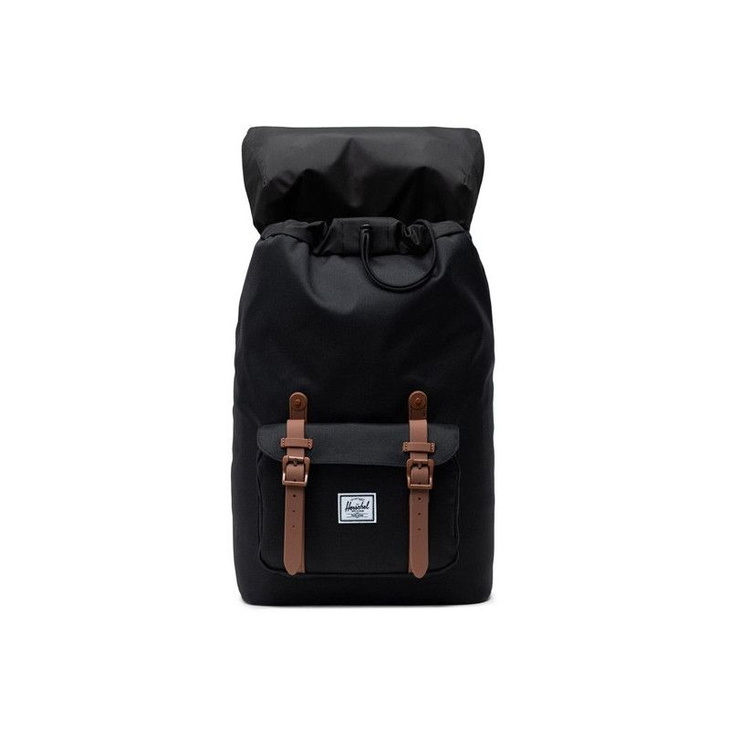 Mochila Herschel: Little America Mid Vol (Blk Saddle Brown)