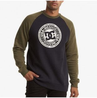 Sudadera DC Shoes: CIRCLE STAR CRE (BLK FATIG GREEN ANT WHT) DC Shoes - 1