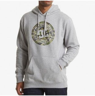 Sudadera DC Shoes: CIRCLE STAR PH (GREY HEATHER CAMO) DC Shoes - 1