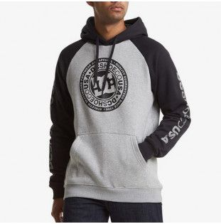 Sudadera DC Shoes: CIRCLE STAR PH (GREY HEATHER BLACK) DC Shoes - 1