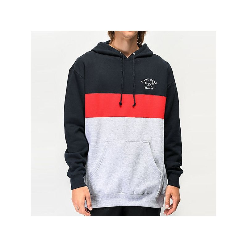 Sudadera Dark Seas: MONTEREY (NAVY/RED)