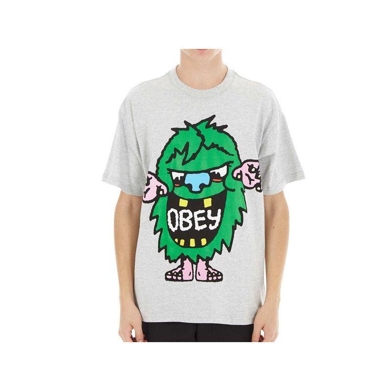 Camiseta Obey: OBEY CREECH (HEATHER GREY)