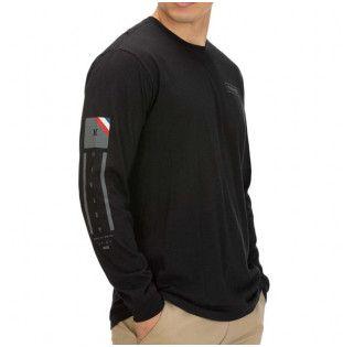 Camiseta Hurley: RIGHT ARM L/S (BLACK)