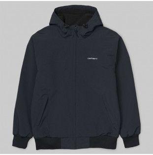 Chaqueta Carhartt: Hooded Sail Jacket (Dark Navy White)