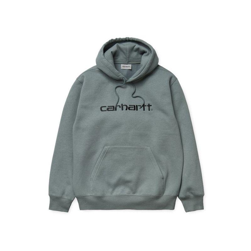 Sudadera Carhartt: Hooded Carhartt Sweat (Cloudy Black)