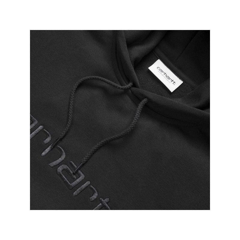 Sudadera Carhartt: W Hooded Carhartt Sweat (Black Black)