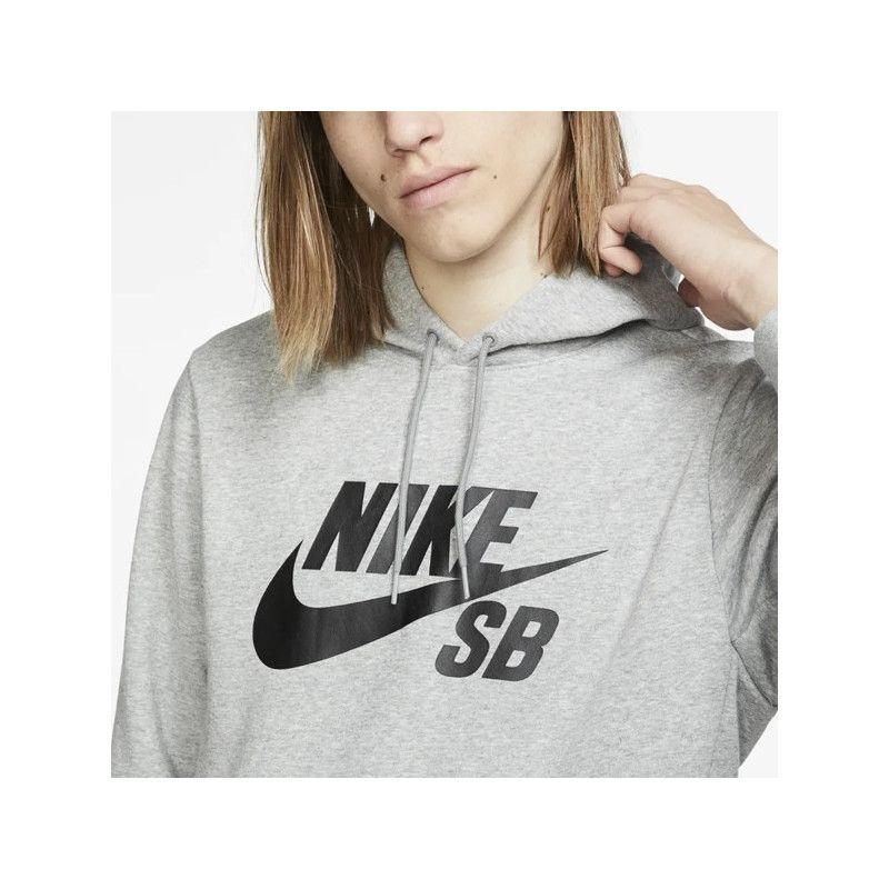 Sudadera Nike: ICON HOODIE PO ESSNL (DK GREY HEATHER BLK)