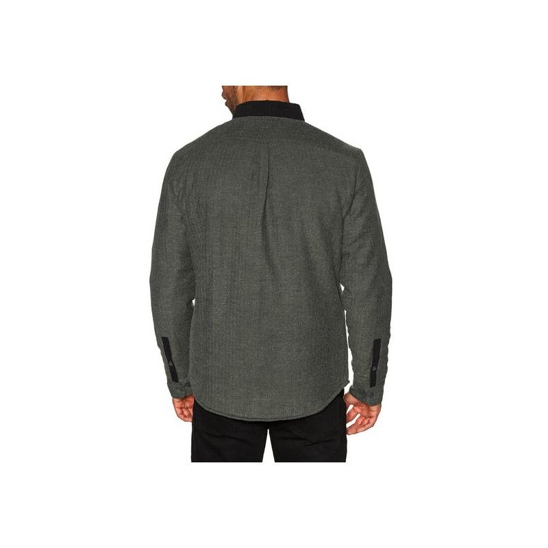 Camisa RVCA: VICTORY II LS (OLIVE HEATHER)