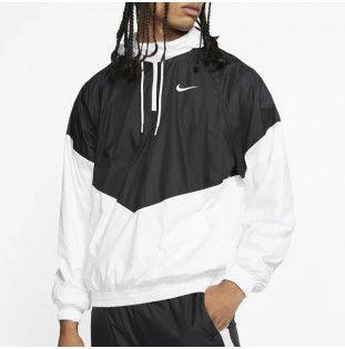 Chaqueta Nike: SHEILD SEASONAL JKT (BLACK WHITE WHITE)