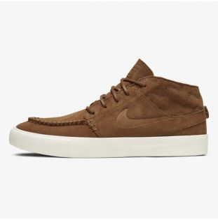 Botas Nike: Zoom Janoski Mid Crafted (LT BRIT TAN BLK)