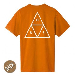 Camiseta HUF: ESSENTIALS TT SS TEE (RUST)