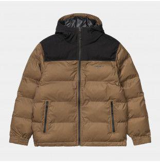 Chaqueta Carhartt: Larsen Jacket (Hamilton Brown Black)