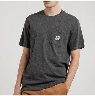 Camiseta Element: BASIC POCKET LABEL S (CHARCOAL HEATHE)