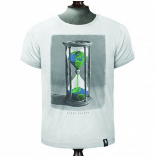 Camiseta Dirty Velvet: HOURGLASS EARTH (Vintage White)