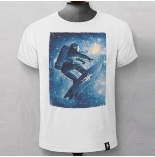 Camiseta Dirty Velvet: STAR SURFER (Vintage White)