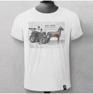 Camiseta Dirty Velvet: CUSTOM CARTS (Vintage White)