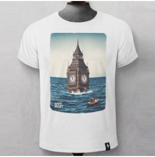 Camiseta Dirty Velvet: AFTER THE FLOOD (Vintage White)