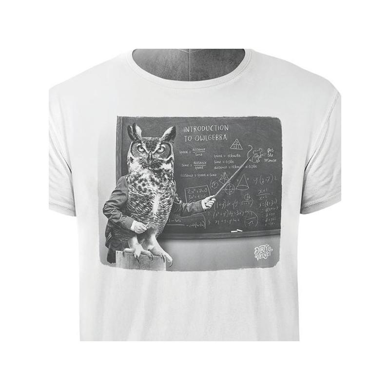 Camiseta Dirty Velvet: OWLGEBRA (Vintage White)