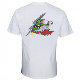 Camiseta Santa Cruz: TEE SLASHED (WHITE)