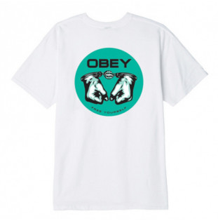 Camiseta Obey: Obey mintal awareness (White)